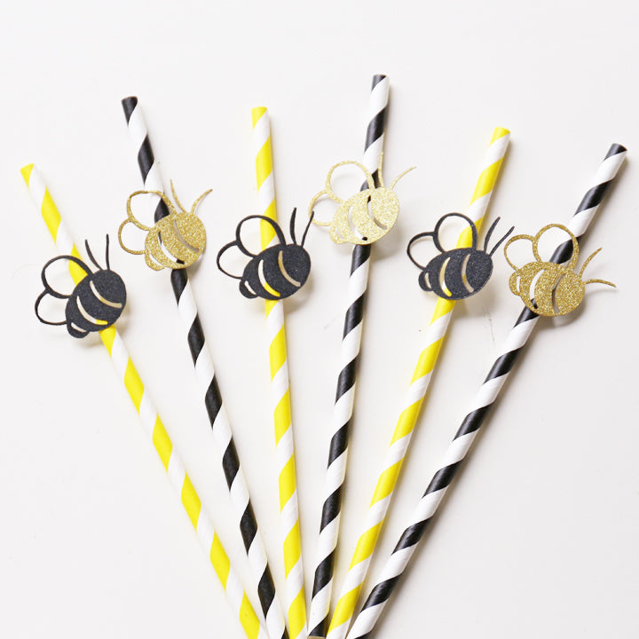 Bumble Bee Party Straws