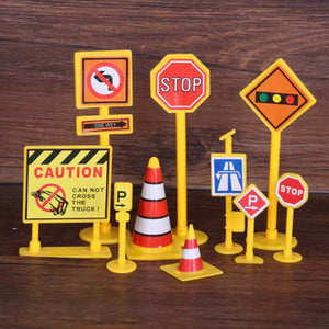 Road Block Cake Toppers