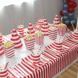 Red Striped Birthday Party Supplies