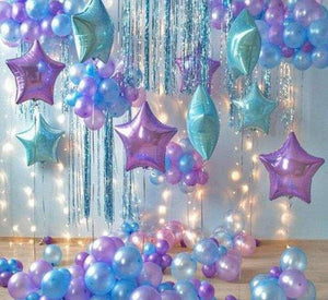 Purple Turquoise & Blue Themed Balloons