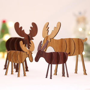 Wooden Reindeer Decorations