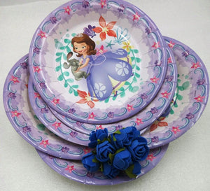 Purple Princess Disposable Plates