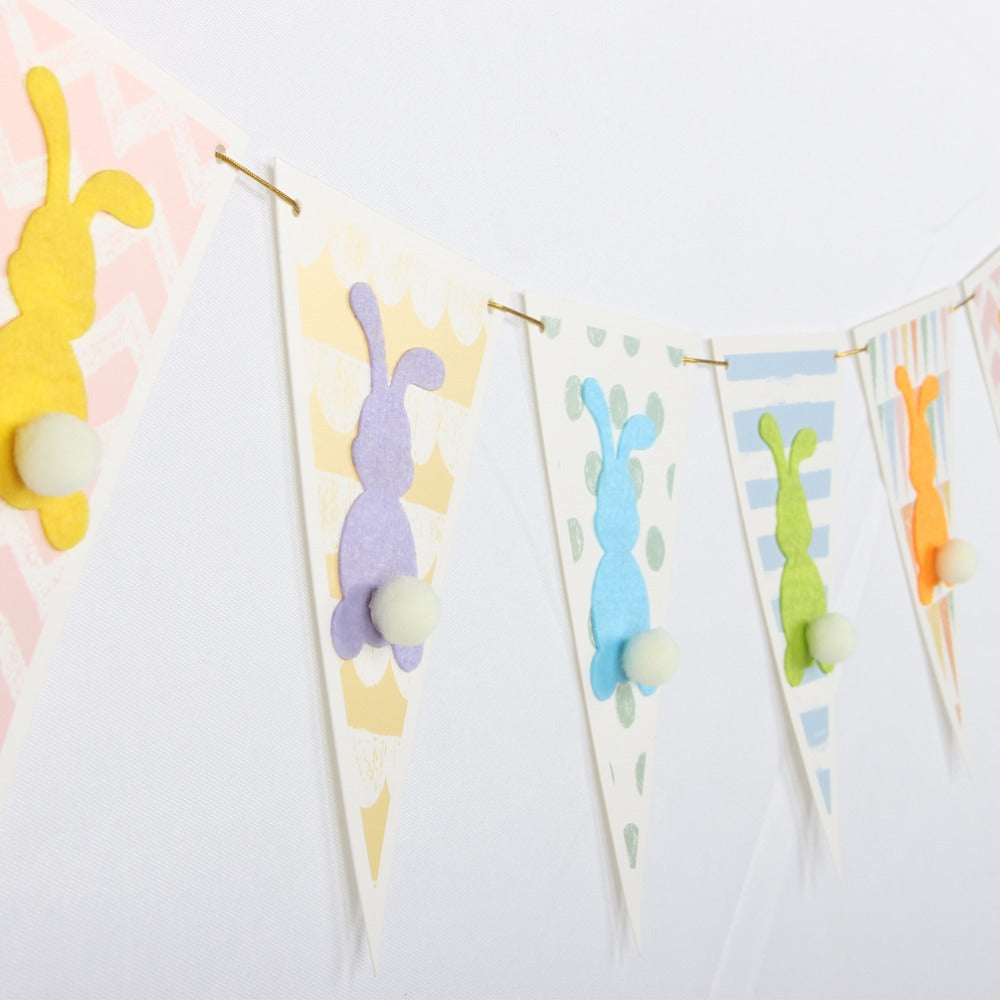 3D Easter Bunny Banner