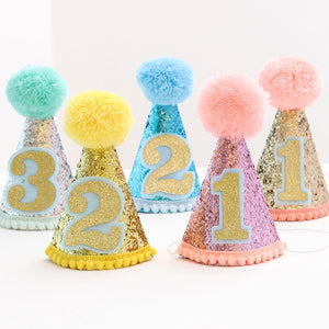 Glitter Birthday Party Hats