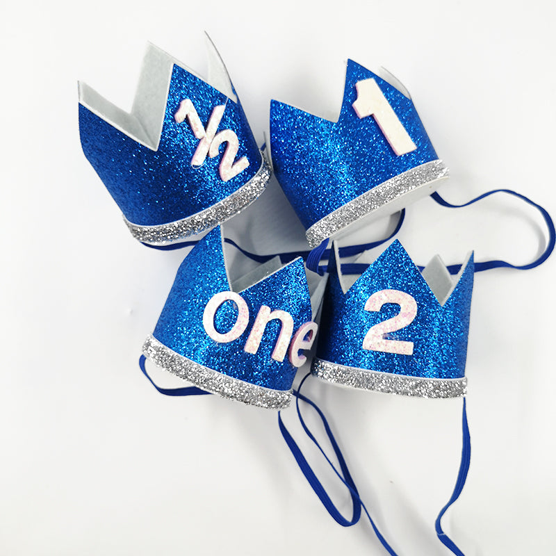 Royal Blue 1st Birthday Crown