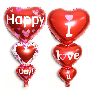Happy Valentine's Day Heart Balloons