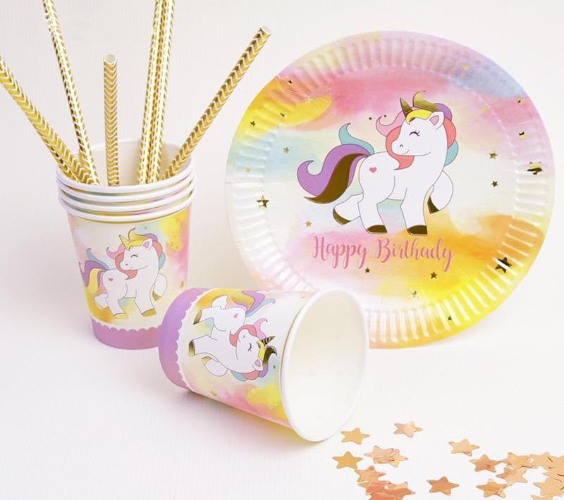 Pink, Purple & Gold Unicorn Birthday Party Supplies