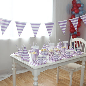 Purple Striped Birthday Party Supplies