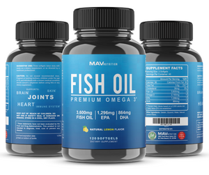 Bromelain with Fish Oil Triple Strength Capsules