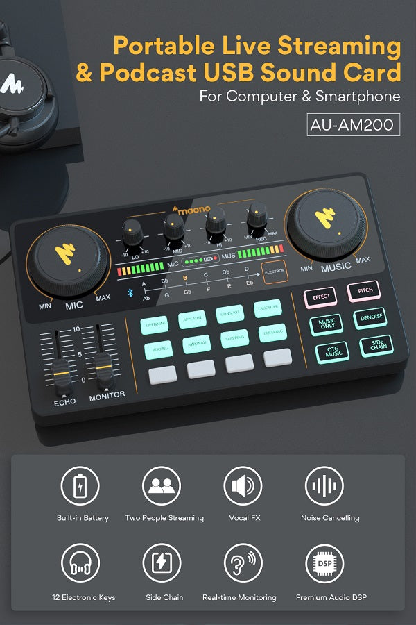 Maonocaster All-In-One Podcast Production Studio