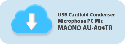 USB Cardioid Condenser Microphone PC Mic MAONO AU-A04TR for Recording
