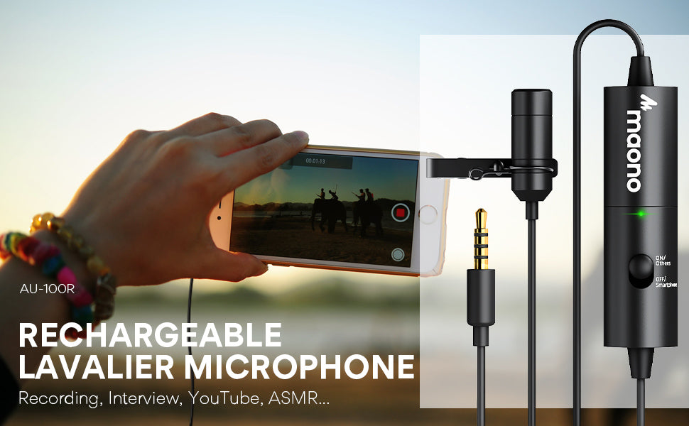 Rechargeable Lapel microphone