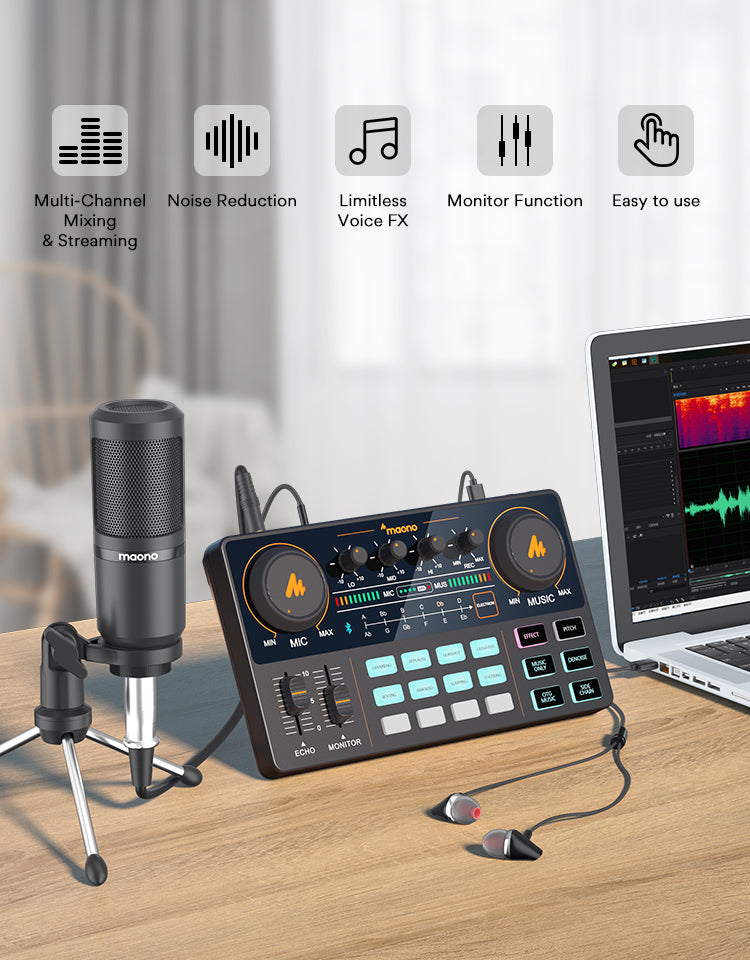 Maono studio microphone for podcast gaming