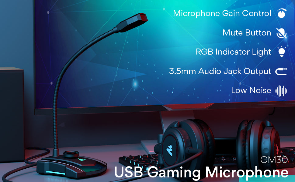 PC gaming microphone
