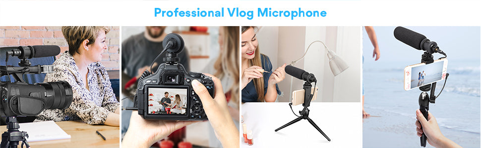 on-camera shotgun microphone