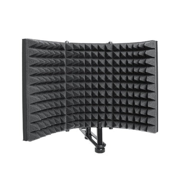 Microphone Isolation Shield High Density Absorbing Foam & Vented Metal Back Plate