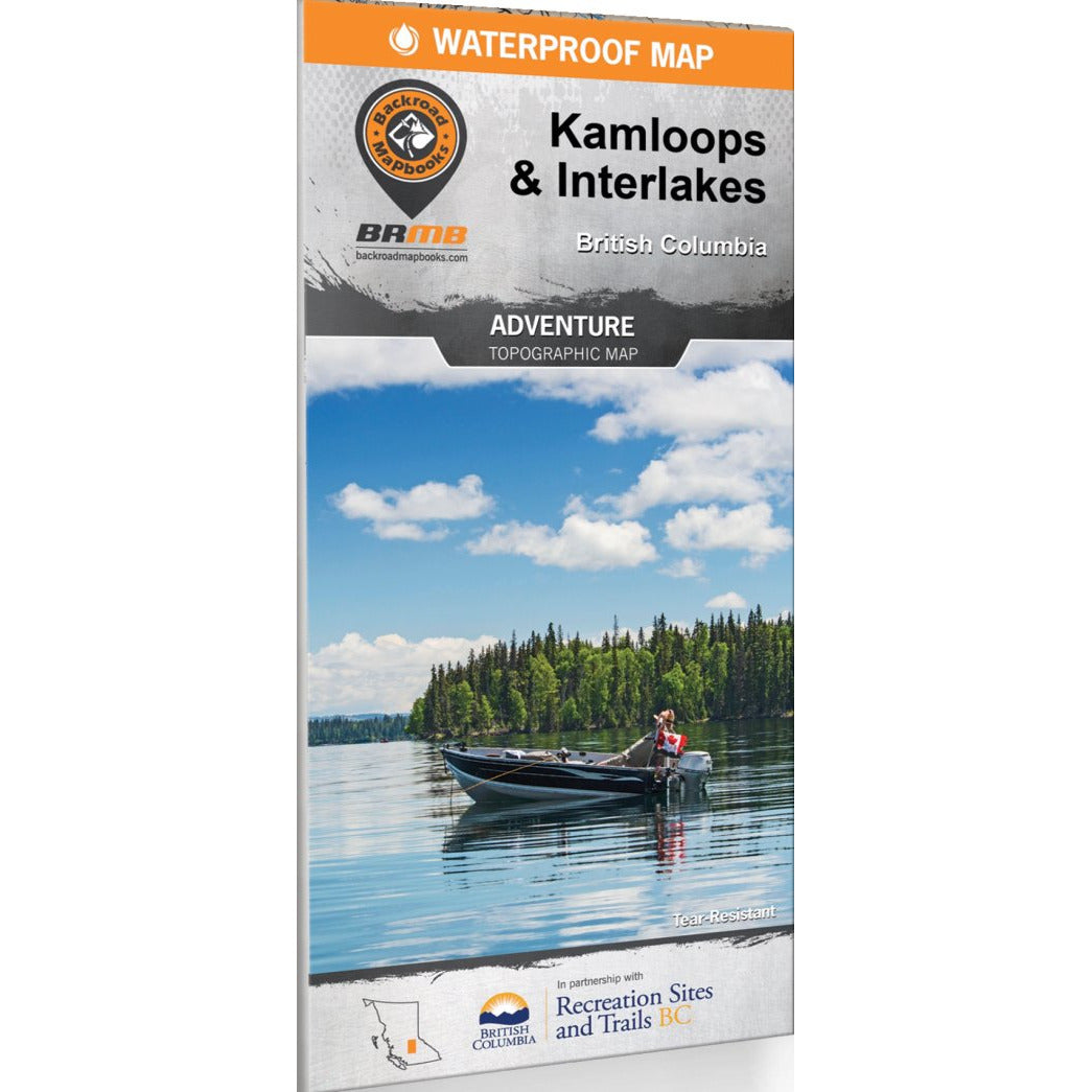 Backroad Mapbooks Adventure Topographic Map – Kamloops & Interlakes BC