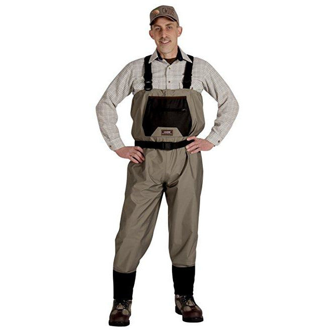 Caddis Natural Breathable Chest Waders with Vest