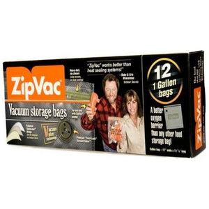 ZipVac 1 Gallon Bags (12 Pack)