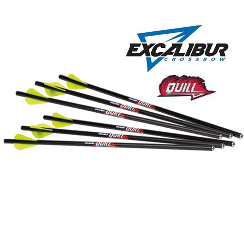 Excalibur Quill 16.5″ Carbon Crossbow Arrows
