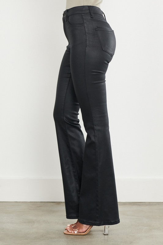 So Luxe Flare Leather Pants