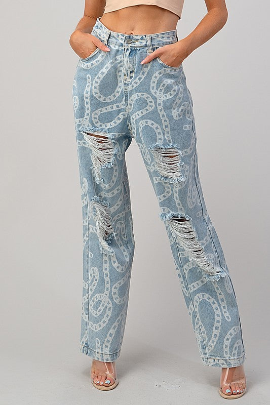 Off The Chain Denim Pants