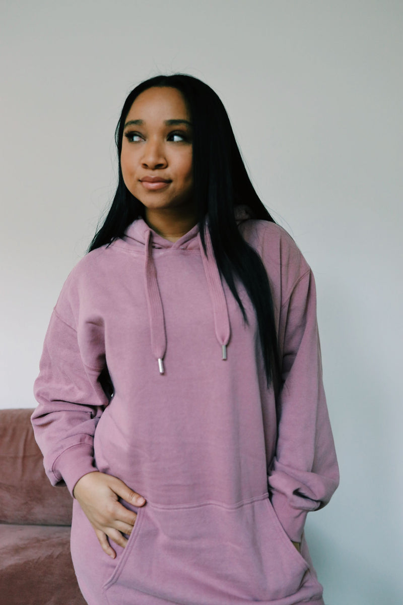 Oversized Hoodie Dress | Mauve