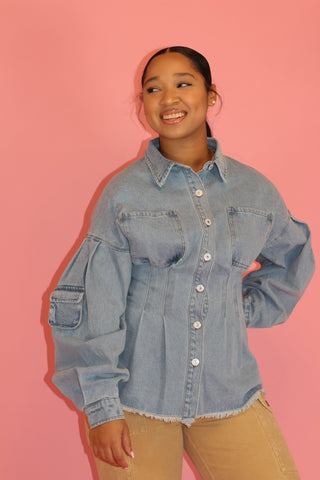 It's Too Easy | Denim Playsuit