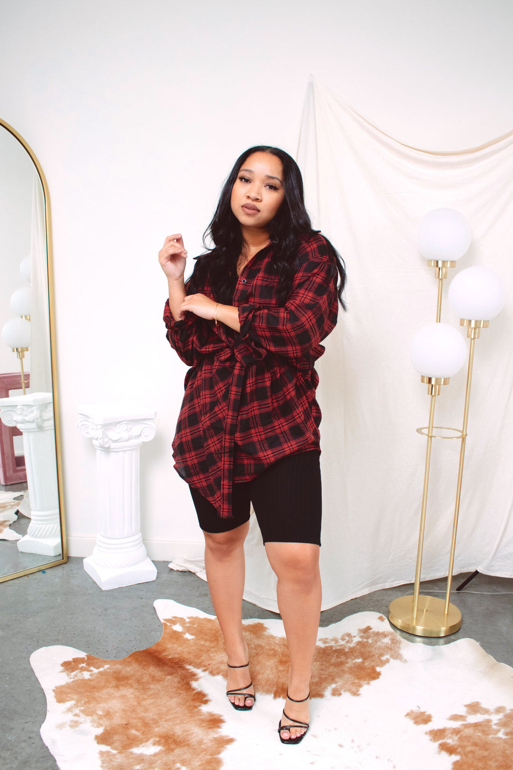 Come Around 2 in 1 Flannel Shirt | Red