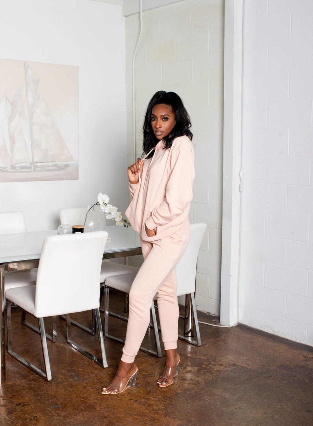 Boyfriend's Favorite Oversized Hoodie Jogger Set | Blush