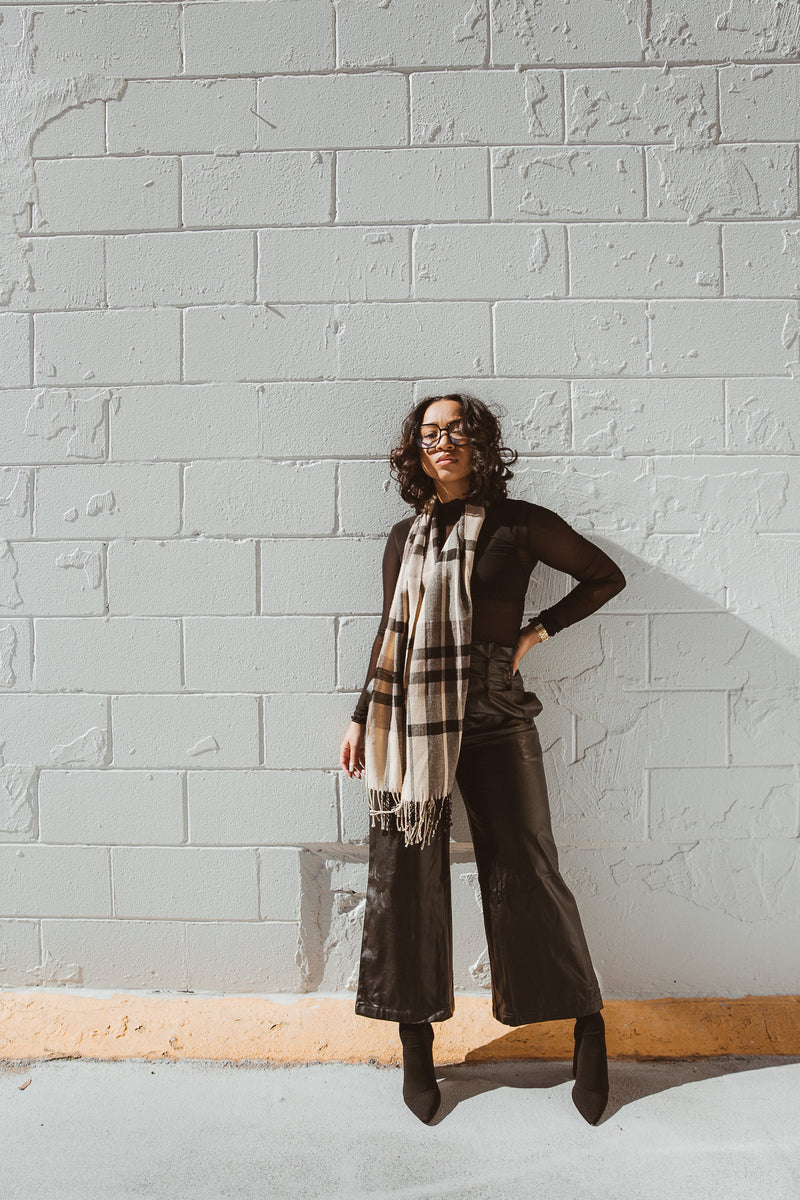My Type | Faux Leather Trouser Pant