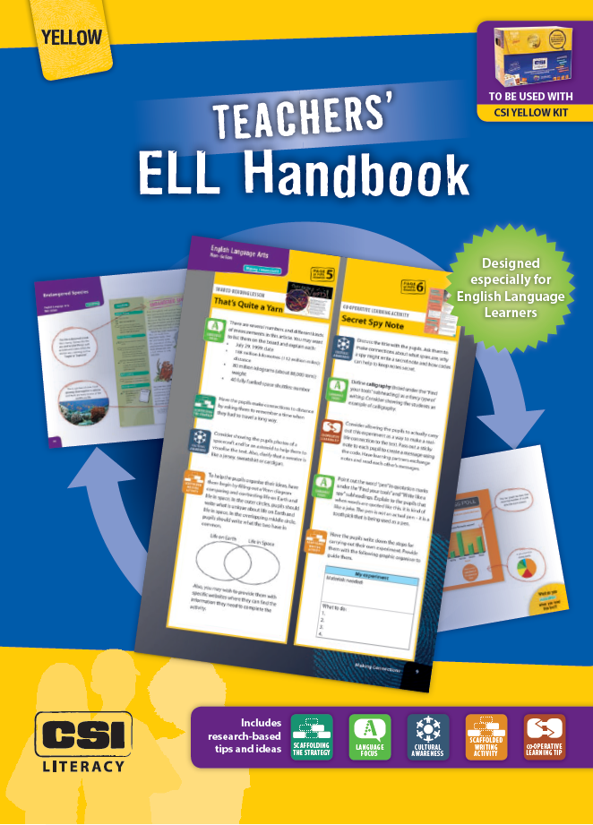 Teachers' ELL Handbook (Yellow CSI Literacy Kit)