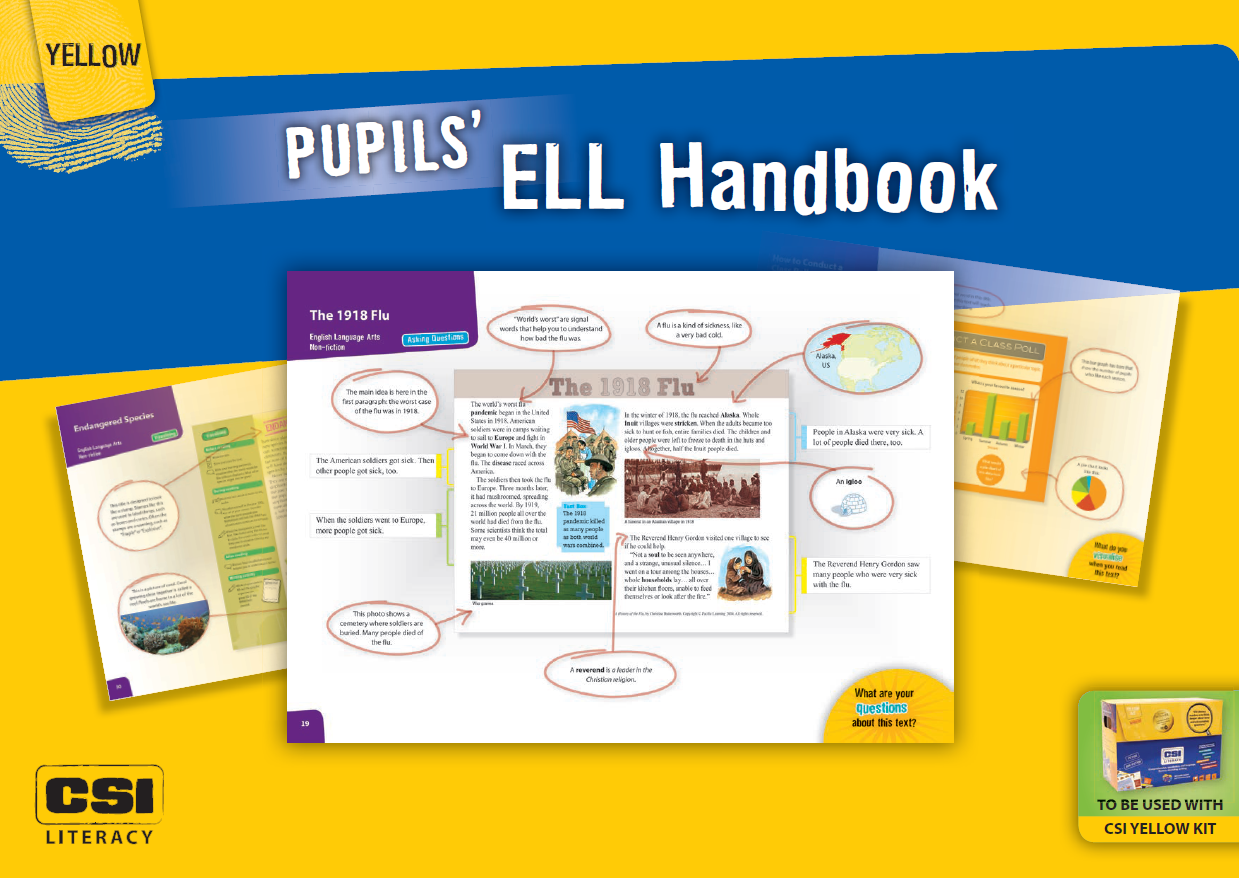 Pupils' ELL Handbook (Yellow CSI Literacy Kit)
