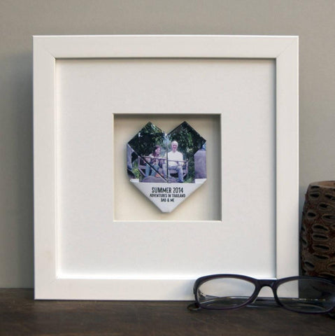 Personalised Framed Dad Origami Instagram Photo Heart - Afewhometruths