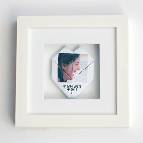 Personalised Framed Mum Origami Photo Heart - Afewhometruths