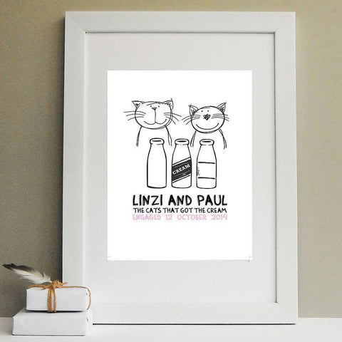 'Cats That Got The Cream' Engagement Print - Afewhometruths