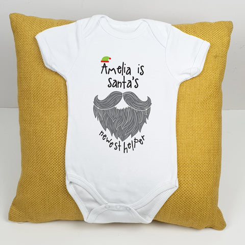 Personalised Santa's Helper Babygrow - Afewhometruths