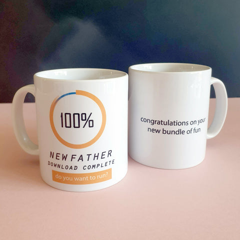 First Father's Day Download Mug