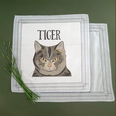 Personalised Cat Handkerchief