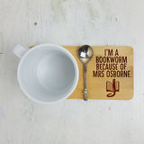 Personalised English Teacher Coaster