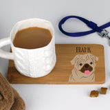 Personalised Dog Bamboo Coaster - Afewhometruths