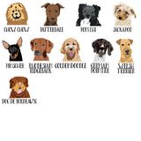 Personalized Dog Wall Clock - multi choice breeds