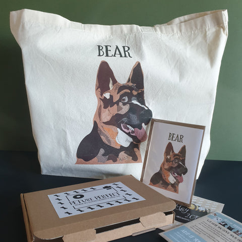 PETure Perfect German Shepherd Dog Illustration Subscription Box
