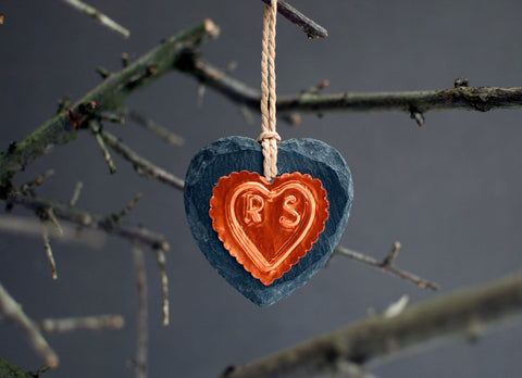 Couple Copper Heart Ornament - Afewhometruths