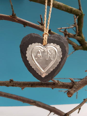Couple Silver Heart Ornament - Afewhometruths