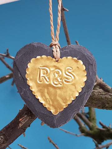 Couple Gold Heart Ornament - Afewhometruths