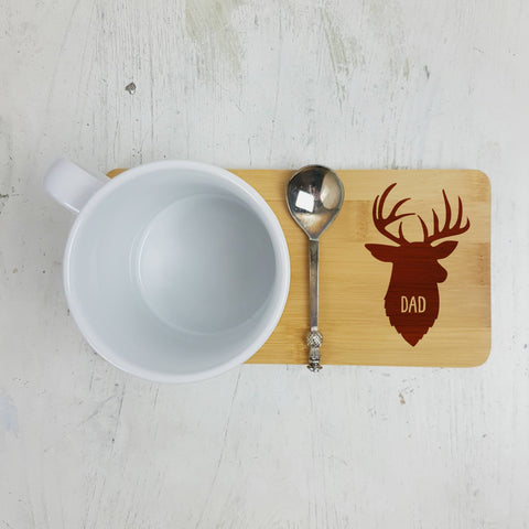 Personalised Stag Coaster - Afewhometruths