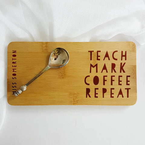 Teach Mark Coffee Repeat Coaster - Afewhometruths