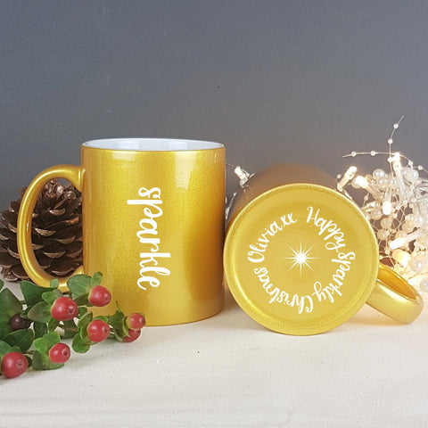 Golden Sparkle Gift Mug - Afewhometruths