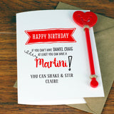 Martini Cocktail Birthday Card With Cocktail Stirrer - Afewhometruths